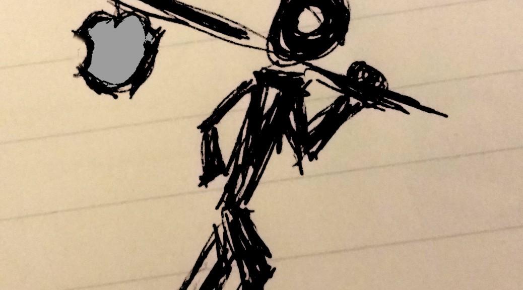 figure with bindle